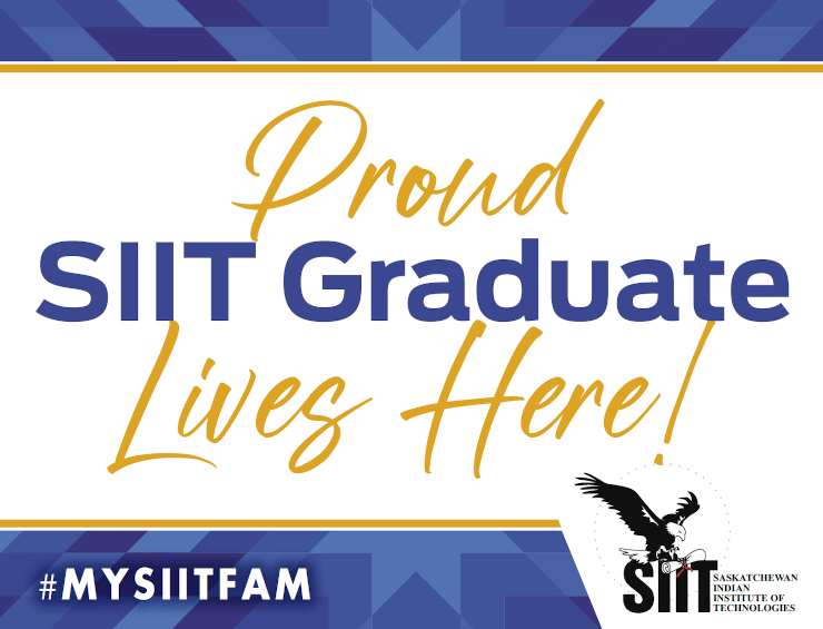 Proud SIIT Graduate Lives Here! Window Sign